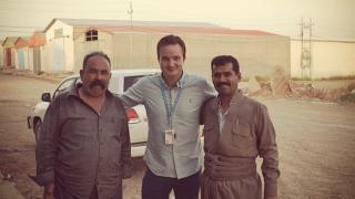 Magnus and the team of truck drivers in Erbil, Northern Iraq, 2014. Photo: Magnus Bruun Rasmussen